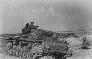 Подбитые танки противника на Буйничском поле, июль 1941 г. Фото П. Трошкина