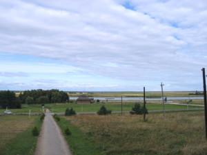 Вид на усадьбу Костюшко из Коссовского дворца