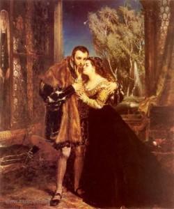 Ян Матейко. Сигизмунд Август с Варварой в Радзивилловском дворце в Вильно (1867).